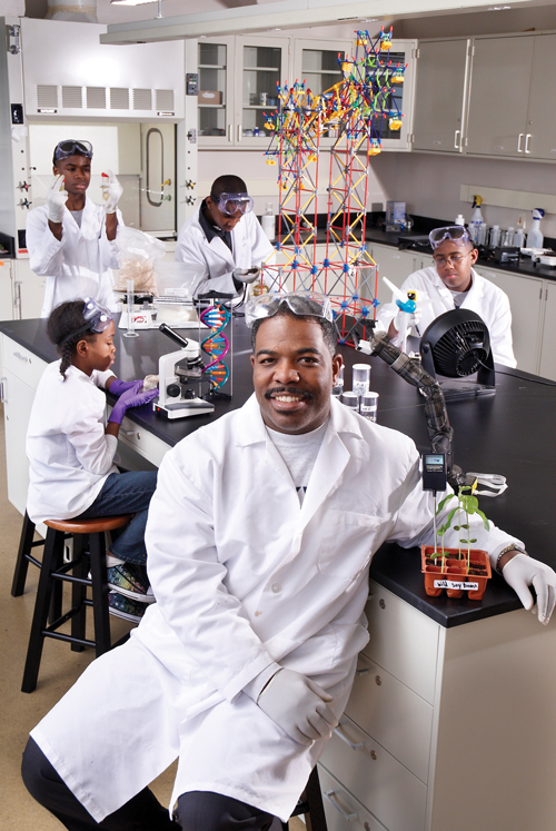 Young, encourages Detroit's youth to pursue careers in the sciences. (Credit: Ara Howrani)