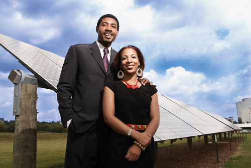 The Kings see renewable energy as Detroit's future (Credit: Ara Howrani)