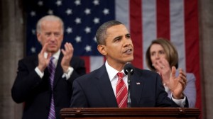 President Barack Obama proposes $30 billion in assistance to small business during his first State of the Union address. (Source: White House)
