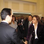 Act 1-Group CEO Howroyd greets Asst. Minister of Commerce Wang Chao