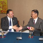 Morial presents gift to Ambassador Liu Guijin