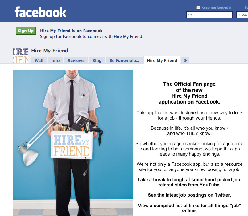 Facebook App Helps Users Find Jobs