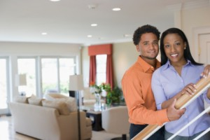 black couple in their new home