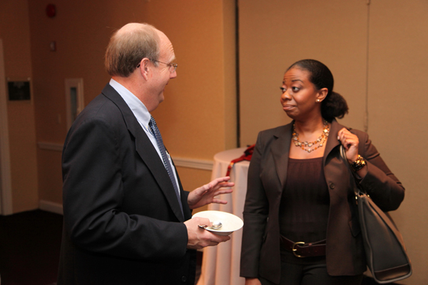Shell WindEnergy President Richard Williams, B.E. Editorial Director Sonia Alleyne