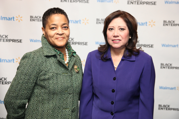 Walmart's Adrienne White with U.S. Labor Secretary Hilda Solis