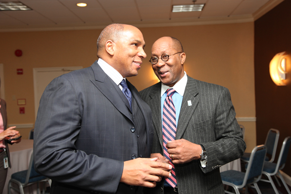 Black Enterprise CEO Earl Graves Jr. and U.S. Trade Representative Ron Kirk share a laugh.