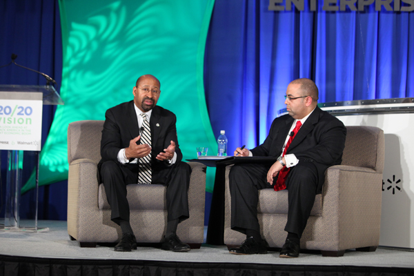 Philadelphia Mayor Michael Nutter, Black Enterprise Editorial Director Alan Hughes