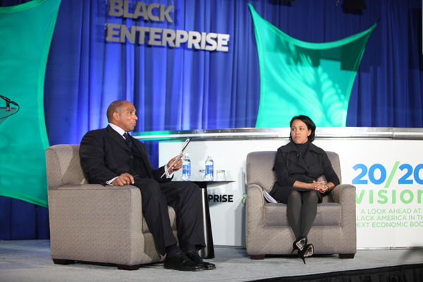Black Enterprise CEO Earl Graves Jr., Walmart Executive Vice President Rosalind Brewer