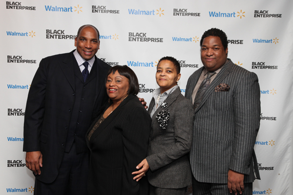 Black Enterprise CEO Earl Graves Jr.; Walmart's Carolyn Odom, Adrienne White, Tony Waller