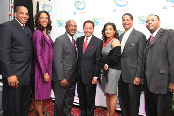 Black Enterprise CEO Earl Graves Jr. with Michelle Bernard, Town Hall Moderator and Harvard Law Professor Charles Ogletree, Don Barden, Tara Wall, Joe Watkins and Warren Ballentine.