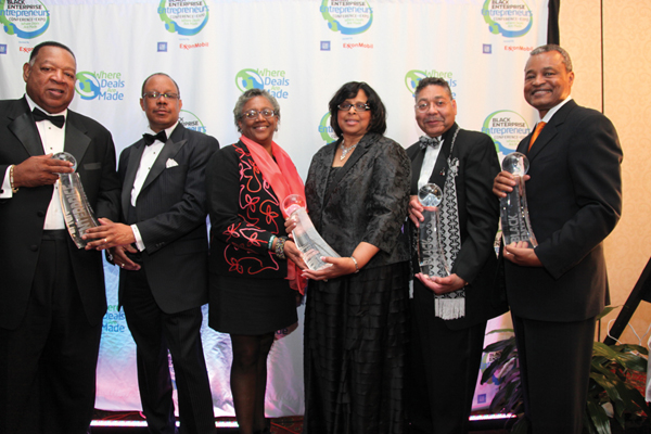 CEO Harold T. Epps and Co-Founder Willie F. Johnson of PRWT Services Inc., BE 100s Company of the Year; Co-Founder Margaret Hennington and CEO Deloris Sims of Legacy Bank, BE 100s Financial Services Company of the Year; Mays Chemical CEO William G. Mays, recipient of the 2009 A.G. Gaston Lifetime Achievement Award; CEO Robert Wingo of Sanders/Wingo Advertising Inc., BE 100s Advertising Agency of the Year.