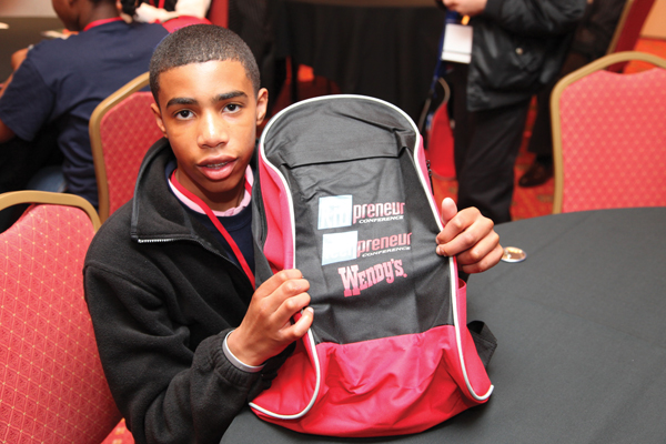 Future mogul shows that he is equipped and ready for the Kidpreneur/Teenpreneur Conference.