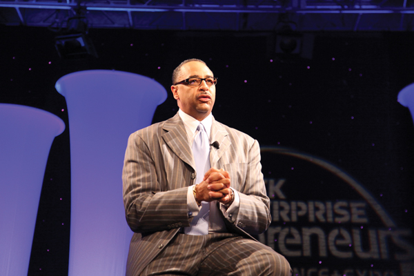 Our World with Black Enterprise Host Ed Gordon gets warmed up for his one-on-one interview with Spike Lee.