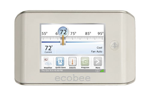 9. ecobee's Smart Thermostat, a seven-day programmable wwwice that let you easily monitor your environment even remotely. And the best part? Yep, there's an iPhone app. ($469; www.ecobee.com)