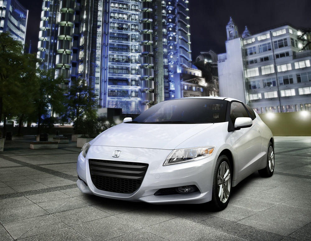 The 2011 Honda CR-Z sport hybrid coupe, which goes on sale this summer, is powered by a 1.5-liter engine with Honda's proprietary hybrid-electric system. (Image source: Honda)