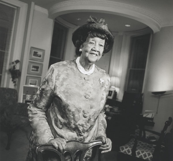 "Recognition for her public service has come from all quarters, including the Spingarn Medal from the NAACP in July 1993 and induction into The National Women's Hall of Fame in October 1993. In 2001, Height was honored with Heinz Award's Chairman's Medal, given to her for her lifetime commitments to human rights and conservation efforts. Here is an excerpt from her acceptance speech:  ""I'm inspired by a woman born of slave parents, Mary McLeod Bethune, who said, 'Leave no one behind' -- and that was also the spirit of John Heinz. And I'm also ever drawn by the necessity to follow Martin Luther King's admonition, that we all need each other because he said, 'The black man needs the white man to free him of his fear and the white man needs the black man to free him of his guilt.' And we come together in the spirit that this award represents, in this very special dimension that the chairman herself exemplifies and inspires us. It is important that we all work together."""