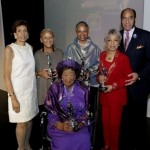From left: TK Graves, Ann Fudge, Dorothy Height, Nikki Giocvanni, Ruby Dee and Earl Graves at the 2008 Women of Power Legacy Awards.
