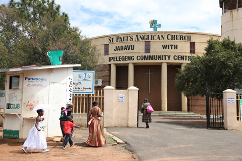 St Paul's Anglican Church in Soweto where Archbishop Desmond Tutu held  services.