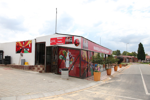 A restaurant near Nelson Mandela's House in Soweto.