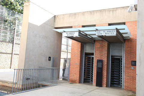 The Apartheid Museum in Johannesburg gives visitors a feel of what life was like  under Apartheid.