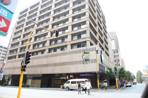 The Chief Albert Luthuli House, headquarters of the African National Congress  (ANC). The ANC is South Africa's governing party.