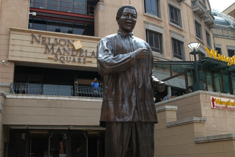 Nelson Mandela Square, a shopping centre in Sandton, Johannesburg.