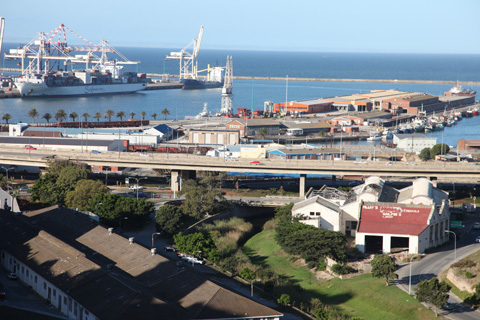 The docks of Port Elizabeth.