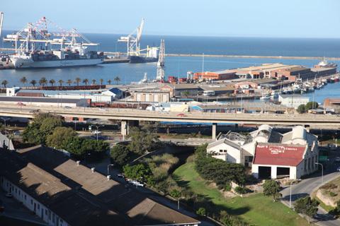 The docks of Port Elizabeth.