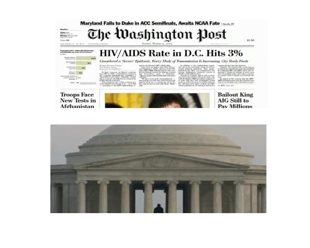 Washington, D.C. has a higher rate of HIV/AIDS infection than several countries in Africa. At 3%, the HIV-positive population surpasses the 1% threshold that constitutes an epidemic. There were 1,318 deaths in D.C. among persons diagnosed with HIV/AIDS between 2004 and 2007; about 87% of those deaths were among black District residents.
