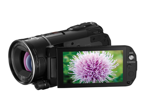 These days, digital devices have become a bit touchy-feely. The Canon Vixia HF S200 ($999) digital camcorder is no exception. The flash-memory camcorder features a 3.5-inch LCD touch screen for easy navigation and focus, a 10-inch optical zoom lens, and face detection features. The HF S200 takes up to a 32GB SDHC (secure digital high capacity) memory card (not included in the box).