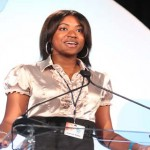 Crumbs by Gabrielle CEO Gabrielle McBay announces that she is celebrating her birthday as she delivers remarks after accepting the Black Enterprise Teenpreneur Award. Crumbs by Gabrielle is a baked-goods business based in DeSoto, Texas.