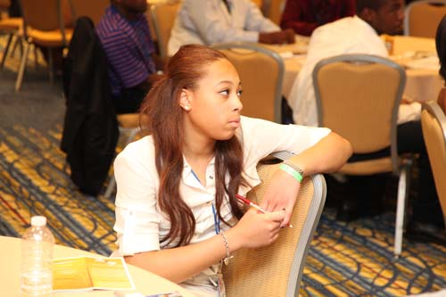 Among the lessons the Teenpreneurs learned was how to be a good public speaker and how to create an effective elevator pitch. More than 1,500 youth have experienced the Black Enterprise Teenpreneur Conference since its inception in 1995.