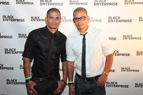 Shane and Shawn Ward, founders of SHANE&SHAWN shoes, mixed it up with other entrepreneurs and young professionals.
