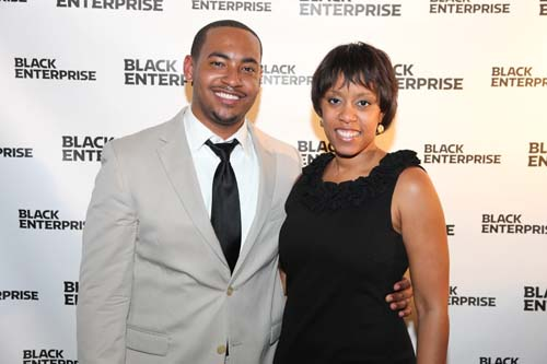 Black Enterprise Integrated Marketing Manager Diana Hilson (right) and a BE Next mixer attendee.
