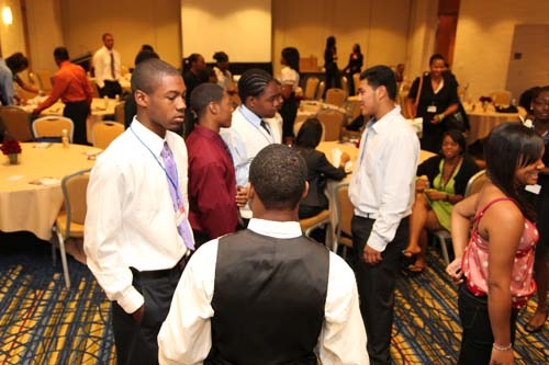 Being an active listener is key to making professional connections. Teenpreneurs learned how eye contact and body language play a large part in communicating effectively.
