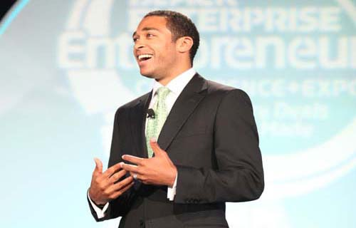 CNN Anchor T.J. Holmes served as emcee of the Black Enterprise Small Business Awards Luncheon.
