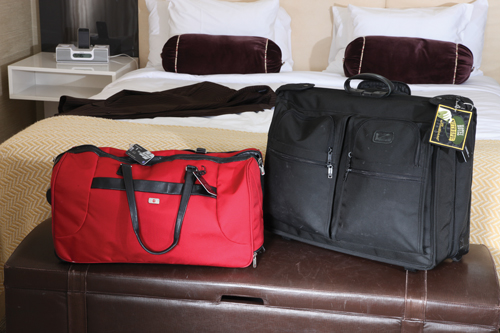 "Best luggage Tumi for quality and the reputation of the brand. ""All my luggage is Tumi except for one piece."" Favorite overnight bag Red Victorinox Swiss Army duffel bag. ""It's durable and easily recognizable when I check it."""
