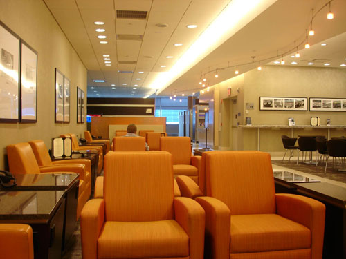 """Best frequent flier lounge: American Airlines Admirals Club in Dallas/Forth Worth International Airport. """"There are several of them and they're spacious."""""""
