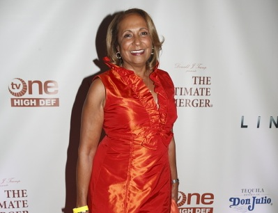 Radio One Chairperson Cathy Hughes on the red carpet at the premiere party for The Ultimate Merger. Hughes is listed among the Black Enterprise 75 Most Powerful Women in Business.