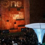 A view from the balcony overlooking the premiere party for The Ultimate Merger. The show is the product of a partnership between Trump, TV One, and Comcast Corporation, an investor in TV One. Radio One (ranked No. 17 on the BE 100s Industrial Service list), also an investor in TV One, announced on Wednesday that it secured a new loan in order to buy a bigger stake in TV One.