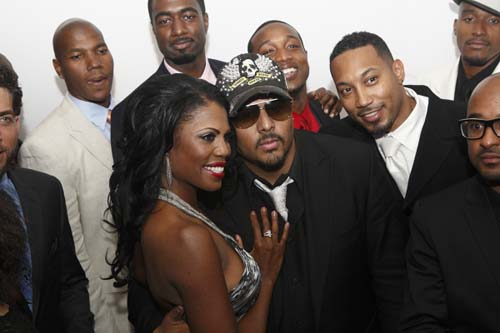Omarosa is surrounded by the suitors, including R&B singer and songwriter Al B. Sure, who will be competing for her affections during the course of the 8-week reality series.