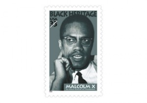 malcolm x stamp
