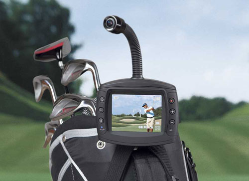 Golf Swing Video Recorder: This is perfect for the dad trying to improve his golf game. Simply mount the recorder to your golf bag, push, or golf cart and let the recorder capture your full body and your swing from six feet away. Play it back on the built-in screen, your TV, or computer. At $349.99 it's a bit costly, but you'll be able to take credit for Dad's great game.