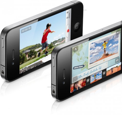 Upgraded video: The iPhone 4 also comes with a larger five megapixel rear camera with a new LED flash, an upgrade from the 3GS's three megapixel camera. Record in HD and editor your video using the iMove app.