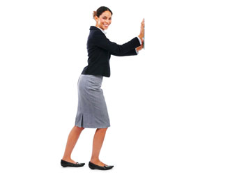 Problem: Deep Vein Thrombosis or blood blots, which can occur from prolonged sitting or a sedentary lifestyle. Solution: Exercise your legs regularly. Face a wall and place your palms flat against the wall like shown above. Bend your right knee, step back with your left leg, and keep your left heel flat on the ground. Hold for 10 to 20 seconds. Do the exercise 6 to 10 times. Step back less or more to intensify or lesson the calf muscle stretch. For more office related exercises like these visit: The Mayo Clinic Cornell University Ergonomics Web The University of Maryland Department of Environmental Safety The Hope Heart Institute