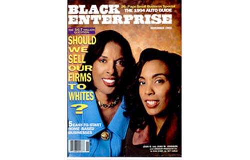 "In 1993, Johnson Products is acquired by IVAX Corp. for a one-for-one stock swap valued at $67 million. The sale represents the first BE 100s manufacturer bought by a majority-owned corporation, beginning the decade-long takeover of black-owned haircare companies by major pharmaceutical and beauty aids conglomerates. The transaction also caused such a furor in African American community that Rainbow/Push called for a boycott and inspired the November 1993 cover story, ""Should We Sell Our Firms To Whites?"" Johnson would then be acquired by Carson, Inc. which, in turn, was bought by L'Oreal in 1998. By 2003, the company had changed hands again, becoming a unit of Procter & Gamble. (Image: Joan and Joan Johnson on the cover of Black Enterprise, November 1993)"