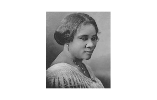 "In 1910, Sarah ""Madame C. J."" Walker is featured in the Guinness Book of World Records as the first African American female self-made millionaire through the creation of a range of haircare products targeted to the African American community. Once asked about her secret of her success, Walker responded: ""There is no royal flower-strewn path to success…If I have accomplished anything in life, it is because I have been willing to work hard."" (Image: Madam C.J. Walker)"