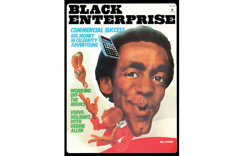 """Our December 1981 cover revealed funnyman Bill Cosby as one of America's top celebrity endorsers due, in part, to having qualities that many in the advertising industry believe """"transcend race."""" Leading the pack with $3 million in TV and other advertising contracts for hawking products such as Coca-Cola and Jell-O pudding, Cosby helped usher in a new crop of black spokespersons, including boxing sensation Sugar Ray Leonard, baseball superstar Reggie Jackson and R&B singer Gladys Knight."""
