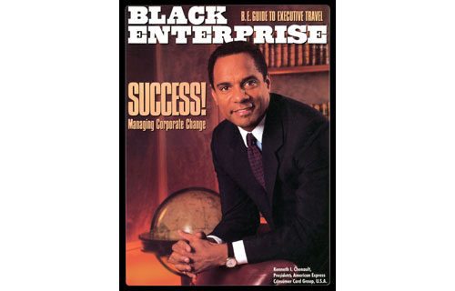 "When Kenneth I. Chenault  assumed the role of president of American Express Co.'s  Consumer Card Group , controlling all of its U.S. card products, BLACK ENTERPRISE wrote in March 1990 that he was ""a polished, articulate mixture of savvy marketer, corporate insider and entrepreneurial visionary: the stuff of which CEOs of the 21st Century are made.""  At the time, the 38-year-old Harvard-trained lawyer was one of a handful of African Americans with the credentials and potential to run one of the nation's 500 largest publicly-traded corporations. Twelve years later, he would take the helm of the financial services giant and represent the highest standard of corporate leadership."