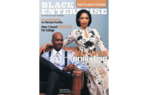 "Our February 2004 cover subjects financial analyst Cid Wilson and actress Gina Torres represented the estimated 4 million Latino Americans of African descent. After attempts to forge economic, political alliances have proven lackluster, our editors developed this feature to establish a much-needed link between that nation's largest minority groups – by sharing our common ground. In a series of interviews with several prominent Afro-Latinos, including Wilson and Torres, they shared insights on discrimination, misconceptions and barriers to forming long-term alliances for our story ""The Afro-Latino Connection."""